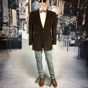 blazer corduroy Vintage Mens Store brown size 40 R